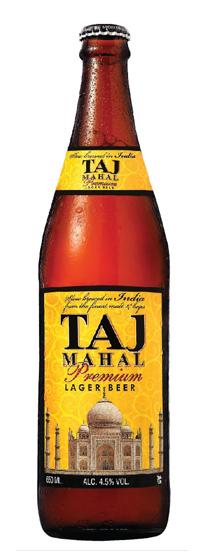 Taj mahal beer label
